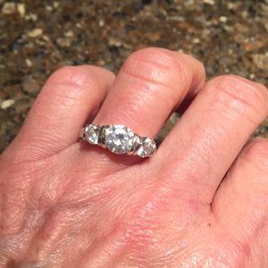 Premier Designs sterling silver CZ ring